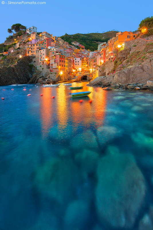 Lights at Riomaggiore