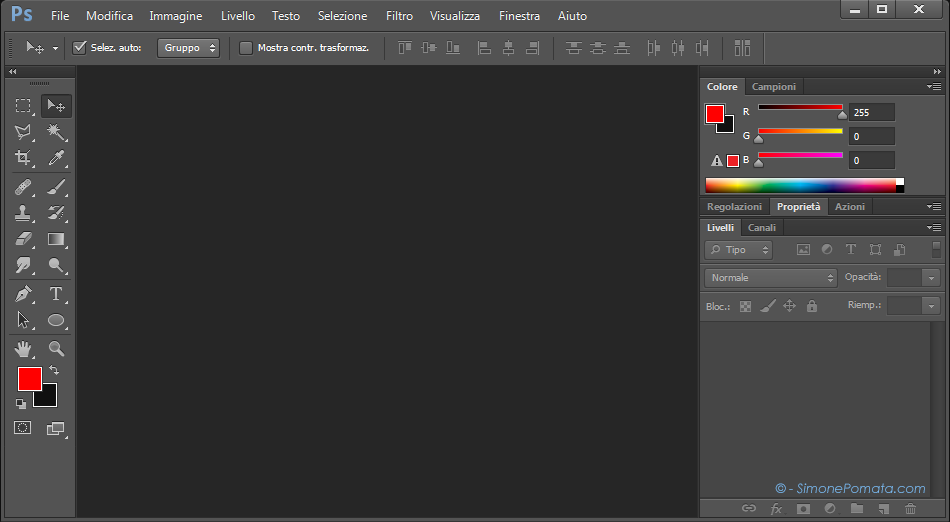 Interfaccia di Photoshop CS6